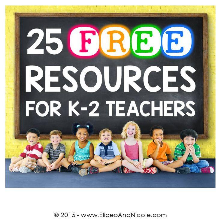 Free teaching resources for kindergarten, first grade, and second grade teachers.