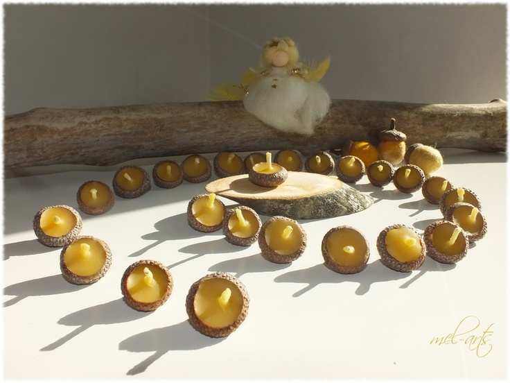 Advent ~ Spiral ~ Beeswax Acorn Cap