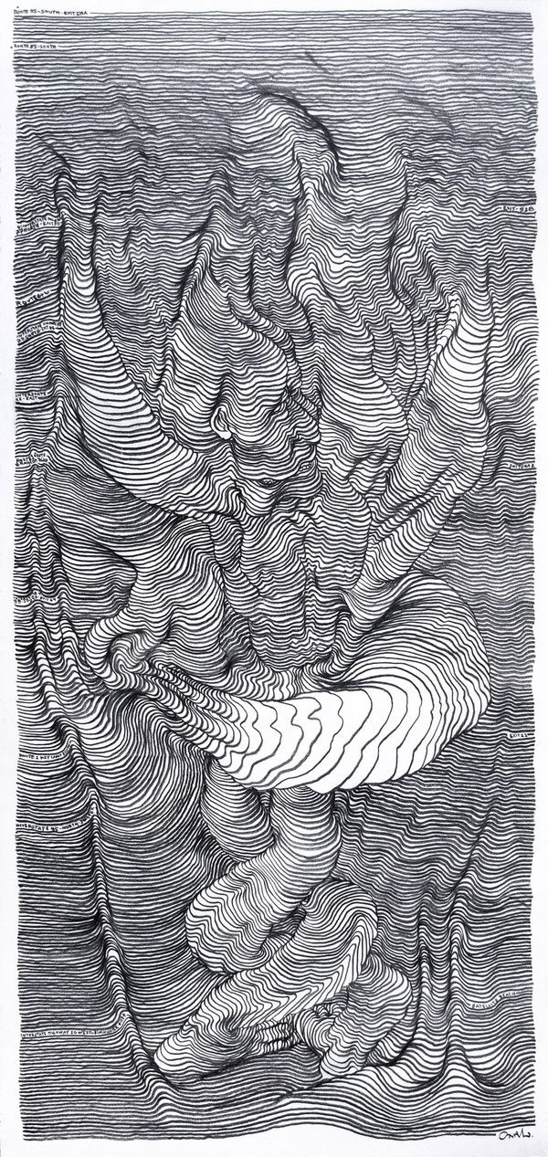 Scroll Drawings by Carl Krull