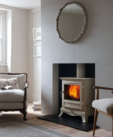 Fireplaces, Stoves, Contemporary, Bespoke Fireplaces  www.chesneys.co.uk - no surround  http://chesneys.co.uk/products/stoves/wood-burning-stoves/the-belgravia-4kw