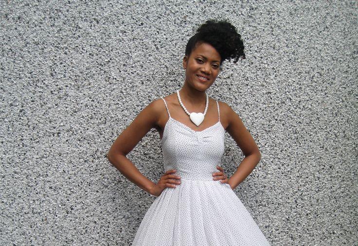 #ModernVintageClash Here we have #KeiraFleur modelling a vintage 80's dress. Available for purchase on www.marketplace.asos.com/boutique/dottytheresavintage