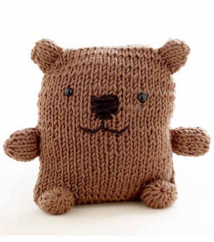 Loom Knitting Bear pattern (breiring knuffelbeer patroon)
