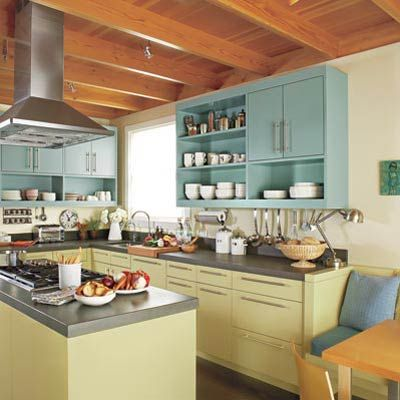 Editors Picks Our Favorite Green Kitchens Kitchen Cabinet MakeoversUpper CabinetsGreen CabinetsBlue CabinetsThis Old HouseModern