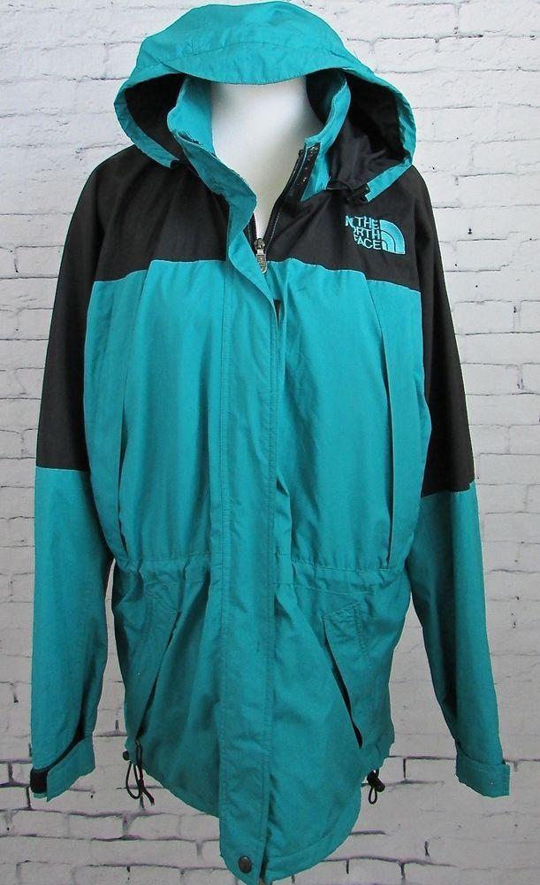 Woman's The North Face Parka Rain Coat Light Weight Ski Jacket Size Large  #TheNorthFace #Parka
