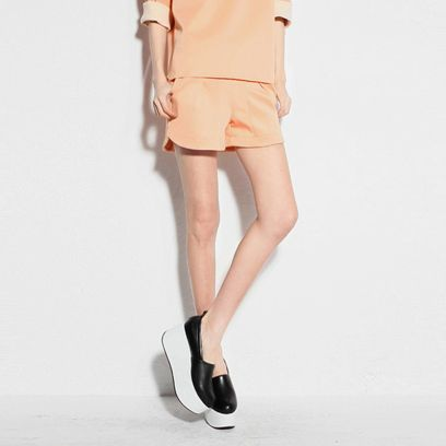Penny Peach Neoprene Shorts $55.00 http://www.helloparry.com/collections/new-arrival/products/penny-peach-neoprene-shorts