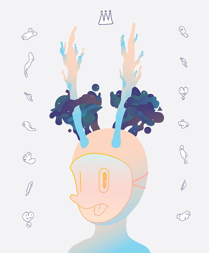 Mask : Tree horns / digital work / 2015 by nunu