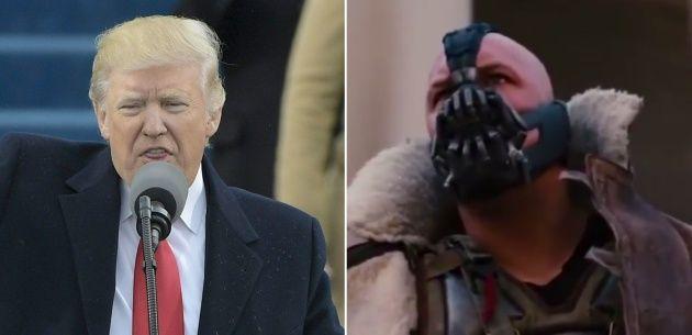 Trump Bane, En Twitter alguien se dio cuenta de que parte de esa frase la había escuchado antes en boca de Bain, el villano de la película de Batman El caballero oscuro: la leyenda renace.