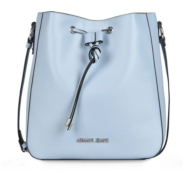 Armani Jeans Messenger Bag ($200) ❤ liked on Polyvore featuring bags, messenger bags, bolsas, handbags, purses, accessories, sky blue, logo bags, blue bag and blue messenger bag