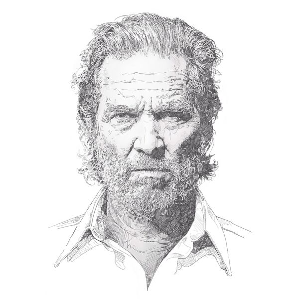 'Jeff'  This is a limited edition fine art print of 'Jeff Bridges'. These are for sale on Morgan.ie. cheers. #art #illustration #drawing #prints
