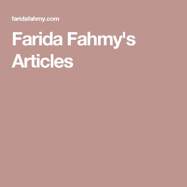 Farida Fahmy's Articles
