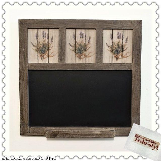 Dřevěná tabule levandule