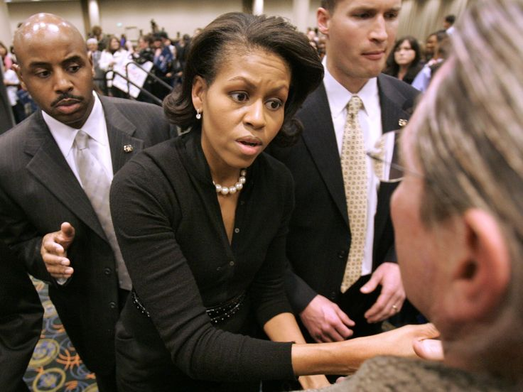 Michelle Obama, wife of Democratic presidential hopeful Barack Obama, spoke to supporters Monday, Feb. 4, 2008, in Salt Lake City.