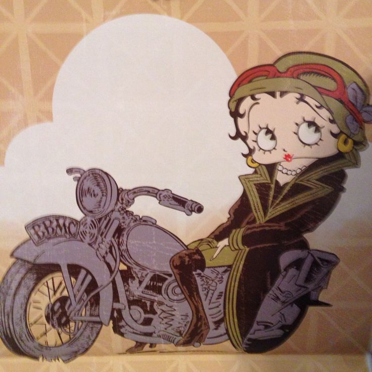 Betty Boop On Her Motorcycle