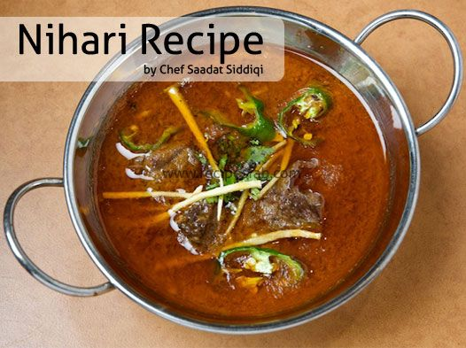 Try Out This Nihari Recipe By Chef Saadat In Cooking Show -1547