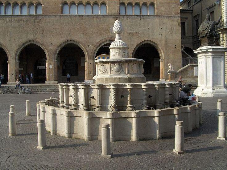 Fontana della Pigna in Piazza Cavour - Pine cone fountain in Cavour Square