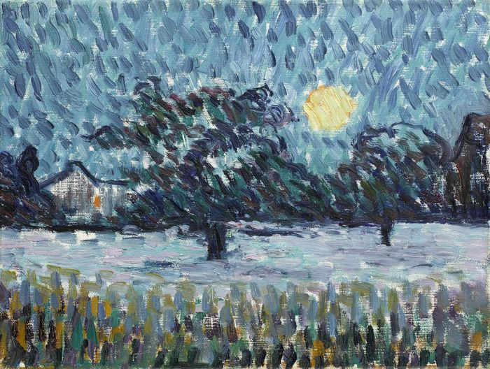 The Athenaeum - Winter Night (Giovanni Giacometti - )