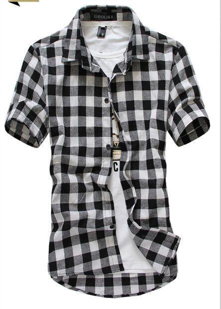 Checkered Plaid Shirt - Short Sleeve
