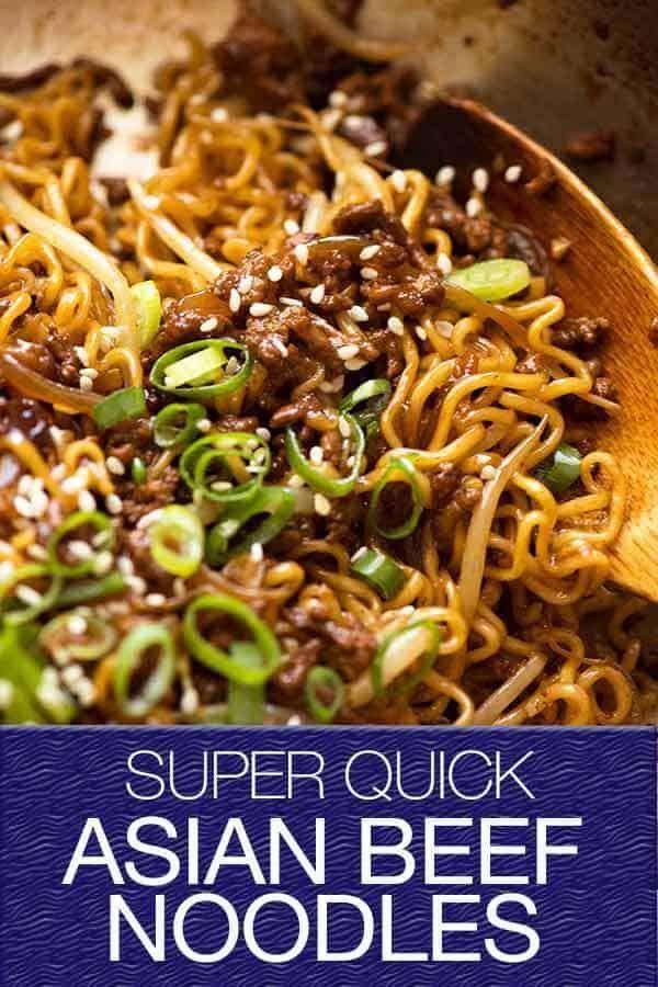 Fast Asian Beef Ramen Noodles