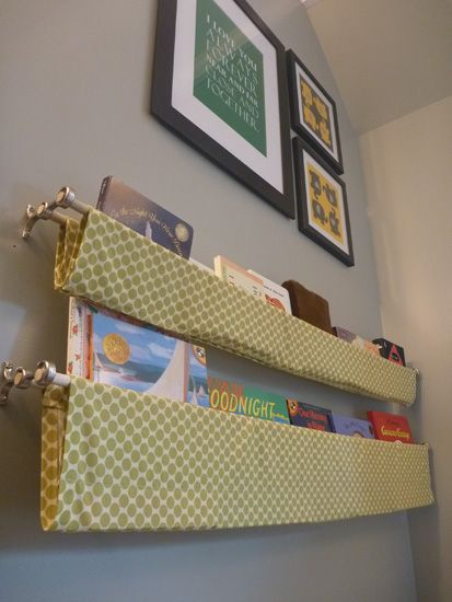 The 25 best book sling ideas on pinterest fabric bookshelf how find the full reveal of the finished nursery here yes i am back with nursery project update number it seems like the never ending room solutioingenieria Choice Image