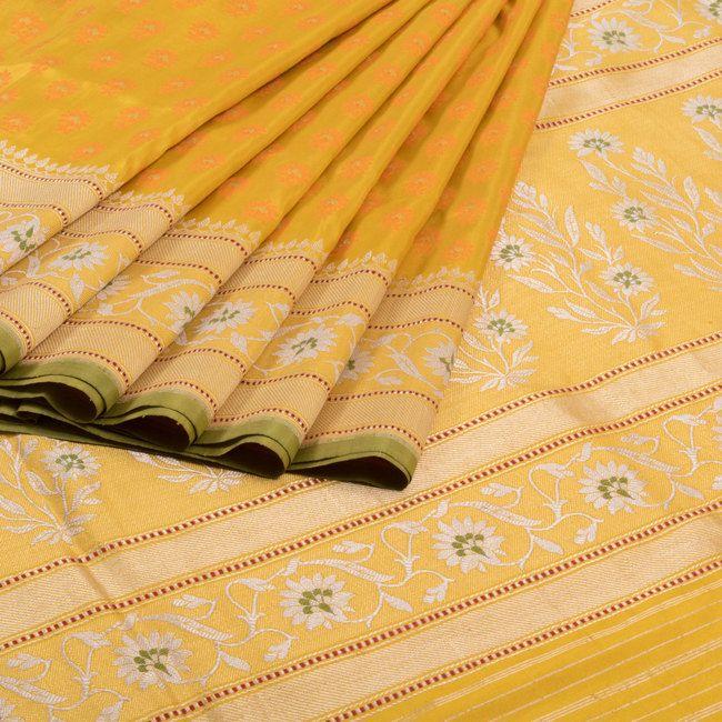 Shivangi Kasliwaal Handwoven Banarasi Tanchoi Katan Silk Saree with Brocade…