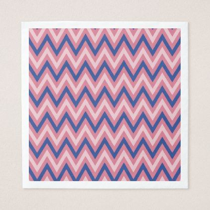 Purple and Shades of Pink Chevron Paper Napkin - stripes gifts cyo unique style