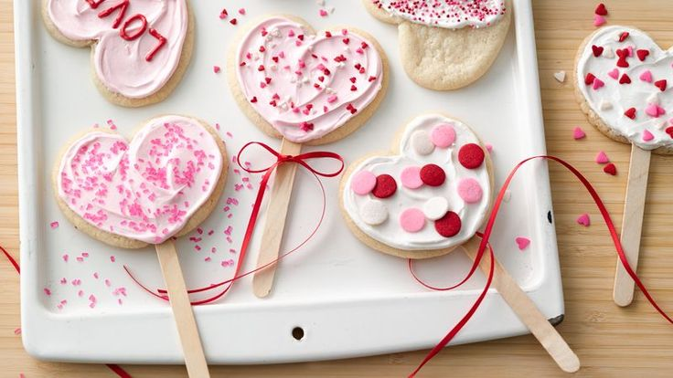 These adorable Valentine hearts-on-a-stick are made simple with Pillsbury™ sugar cookie dough!