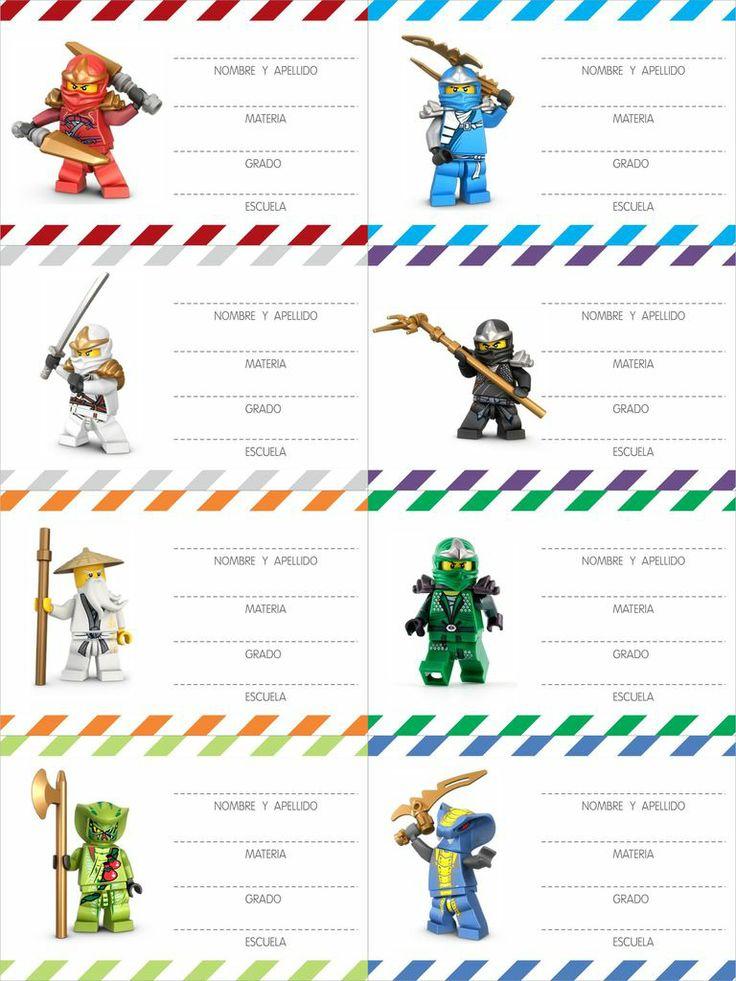Etiquetas Ninja Go — Más Chicos