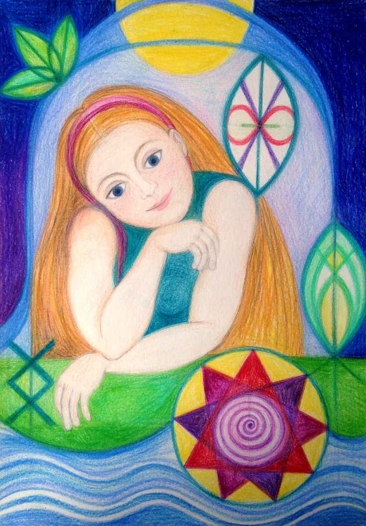 Slavic Priestess by Ivana Axman