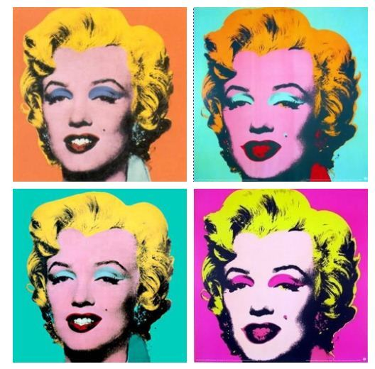 marilyn monroe andy warhol famous people in art. Black Bedroom Furniture Sets. Home Design Ideas