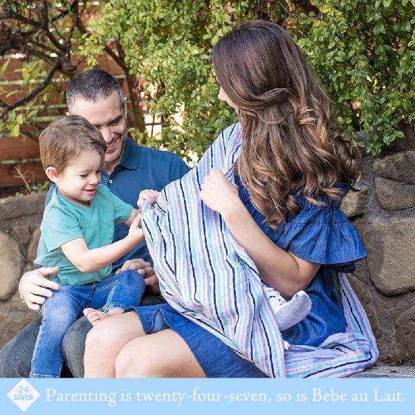 Because you can't always breastfeed in a comfortable chair, in the privacy of your own home. Our Nursing Scarf is perfect for those 'in-a-pinch' moments when life goes on and so must we. Wear as a scarf to style up any outfit and as a cover when breastfeeding.