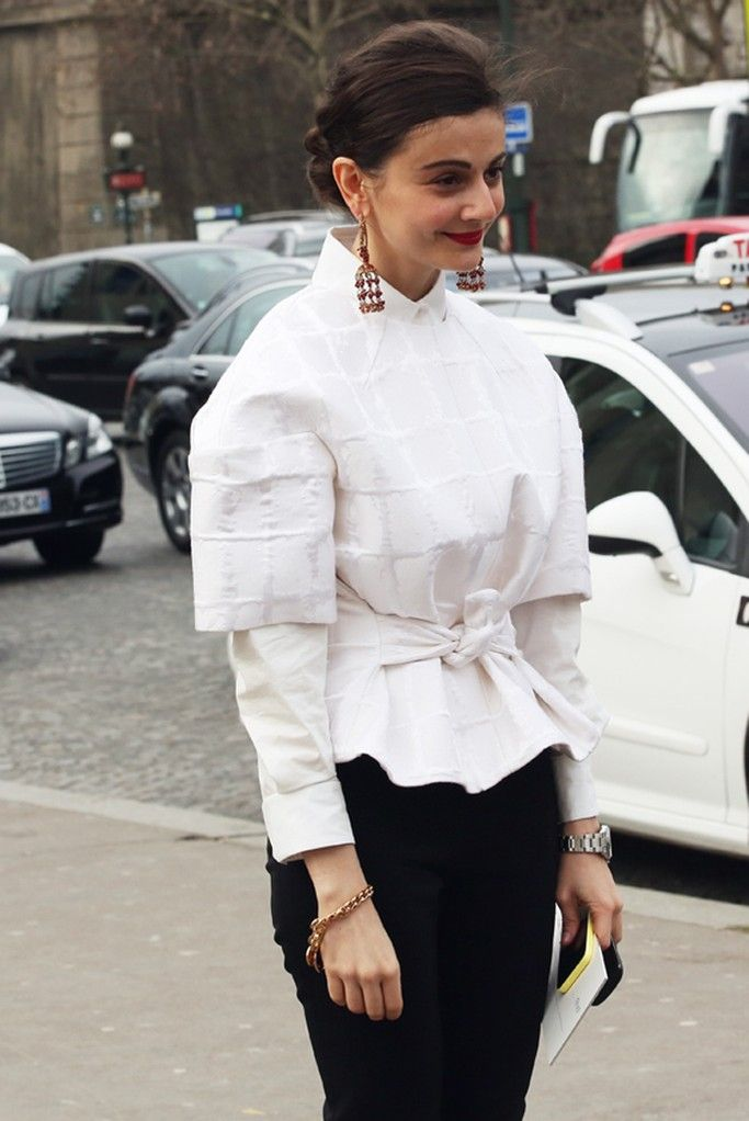 Paris Couture Week street style.  [Photo by HB Nam]
