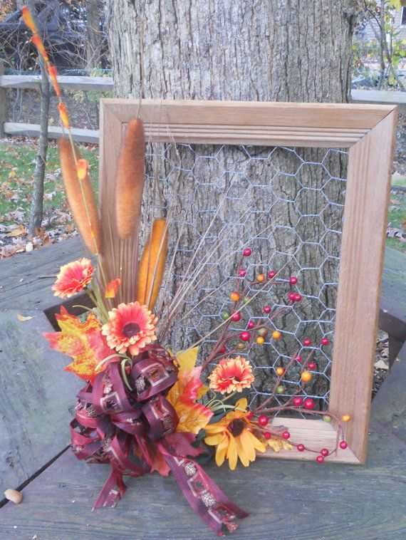 Fall Picture Frame Wreath by mamtime on Etsy