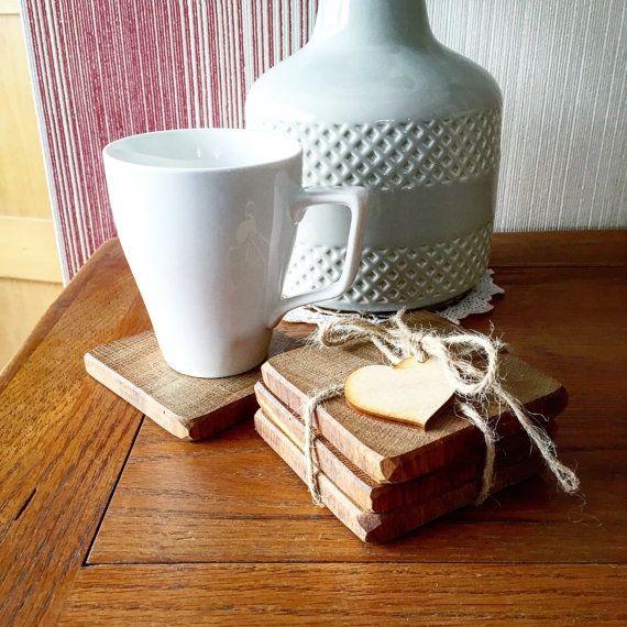 Solid Oak Coasters Wood Coasters Wooden Coasters by MantaMakesLtd