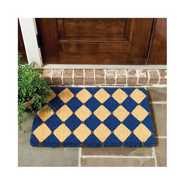 Multiple sizes available.  Blue an option.  French Court Coir Mat
