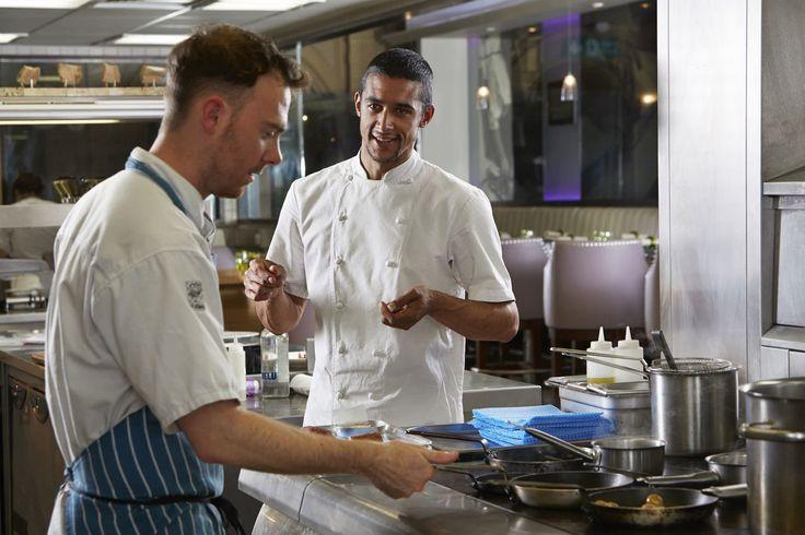 Matt Gillan, directing the kitchen team for The Pass restaurant