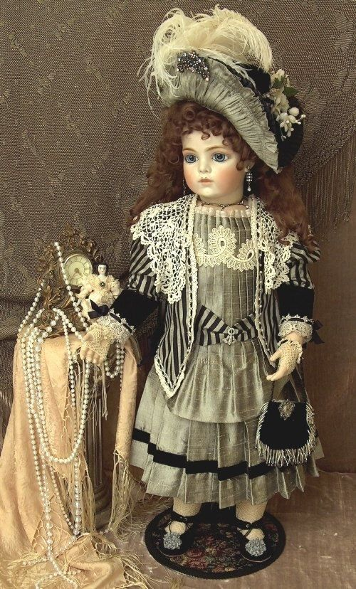 Bru Jne 14 Antique Repro Doll 31 inches tall by DollsByMaryBenner, $2597.00