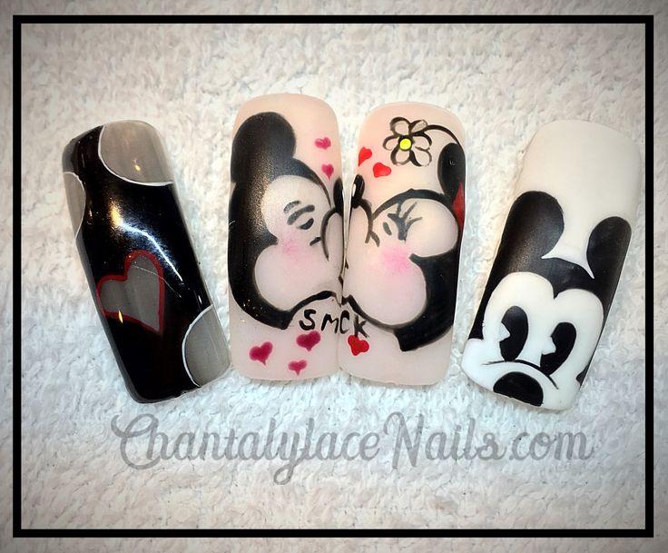 Mickey Mouse nail art  Mickey and Minnie nails