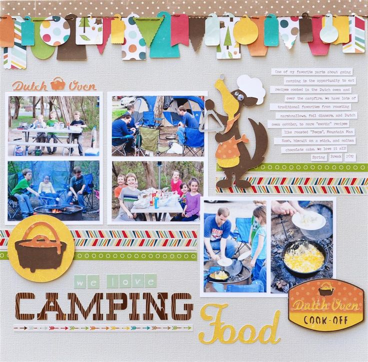 36 Best Images About Camping Scrapbook Layouts On