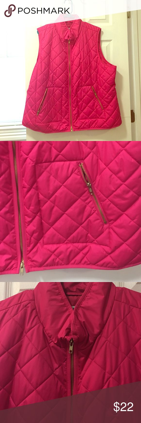 Quilted hot pink vest Old navy quilted vest. Light weight and easy to throw on. Great color for the spring! Old Navy Jackets & Coats Vests