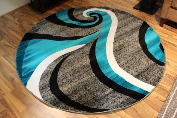 Black And Teal Area Rug
