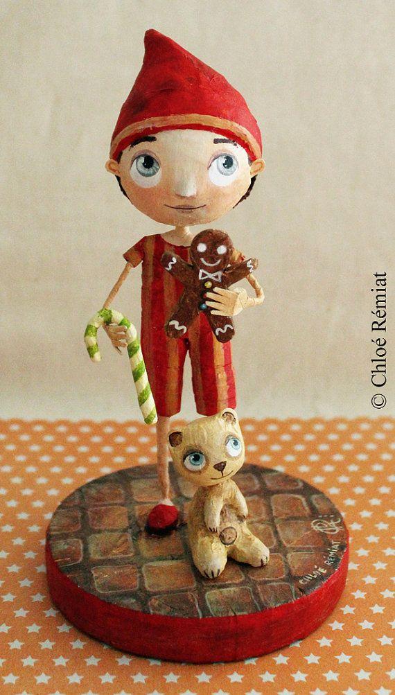 Lutin de Noël OOAK doll par chloeremiat sur Etsy
