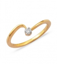 Solitaire Style Contemporary Diamond Daily wear Rings  #Diamond #Ring #Jewellery #Gold #Pepperfry