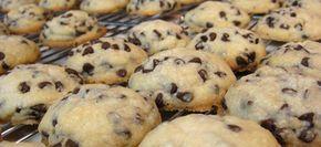 Μπισκότα βουτύρου με κομμάτια σοκολάτας