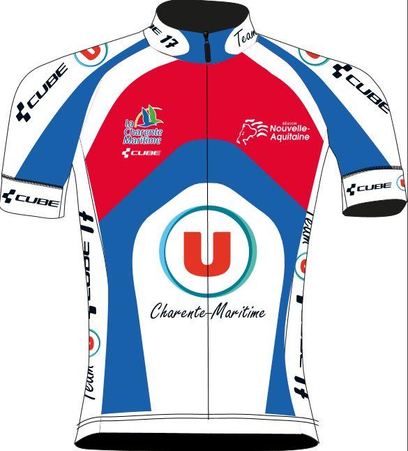 """Team U Cube 17 - Le maillot 2017 Le Team U Cube 17 portera rouge bleu et blanc, comparable à celui de l'an dernier. """" En hommage à Florent Sentucq les coureurs de la DN2 et du Club qui le souhaiteront, porteront son nom côté c... Accueil, équipe cycliste..."""