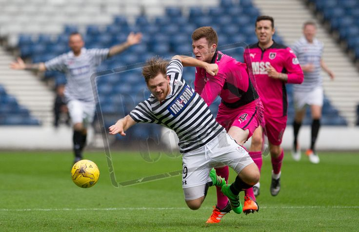 Queen's Park's Aiden Malone in action during the Ladbrokes League One game between Queen's Park and Airdrieonians.