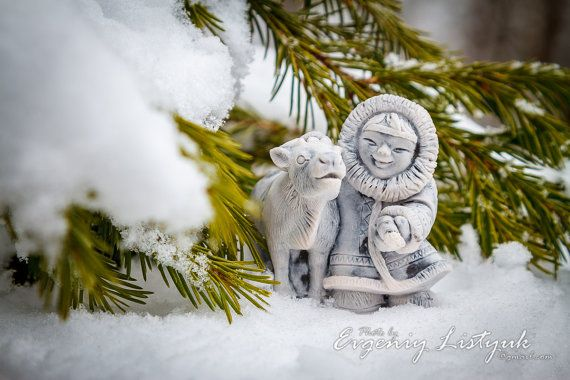 MARBLE Russian Handmade Souvenir Gift Native Siberian girl with a deer on Etsy, 21,99$