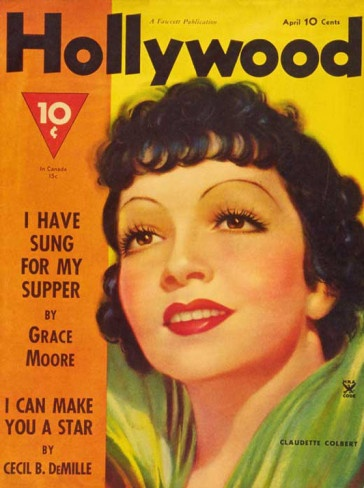 Claudette Colbert - Hollywood Magazine Cover 1940's