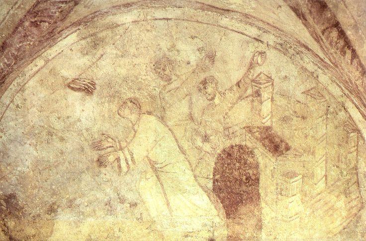 Auxerre, crita di saimt-germain, lapidazione di santo stefano, 841-857 - Arte carolingia - Wikipedia