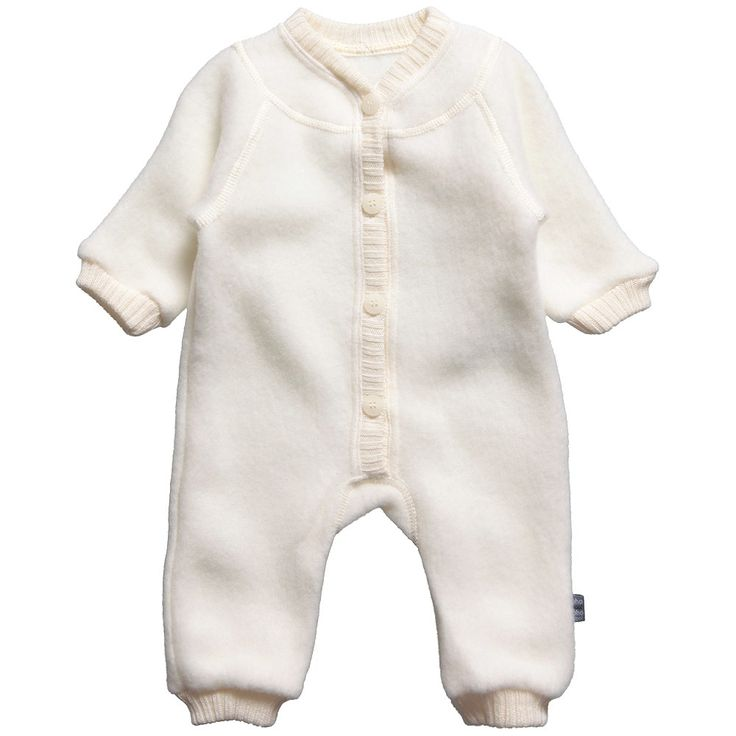 Joha Ivory Thermal Merino Wool Romper at Childrensalon.com