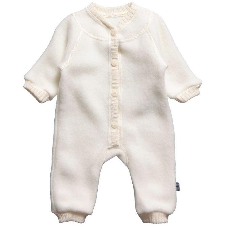 Joha Ivory Thermal Merino Wool Romper at Childrensalon.com